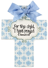 Blue Chains Large Cross - For this child I have prayed