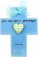 LIMITED STOCK! Blue Large Cross - For this child I have prayed