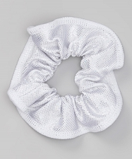 White Sparkle Scrunchie