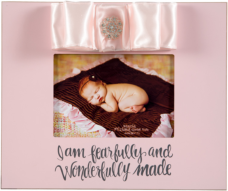 Pink 10x12 Wood Frame I Am Fearfully And Wonderfully Made