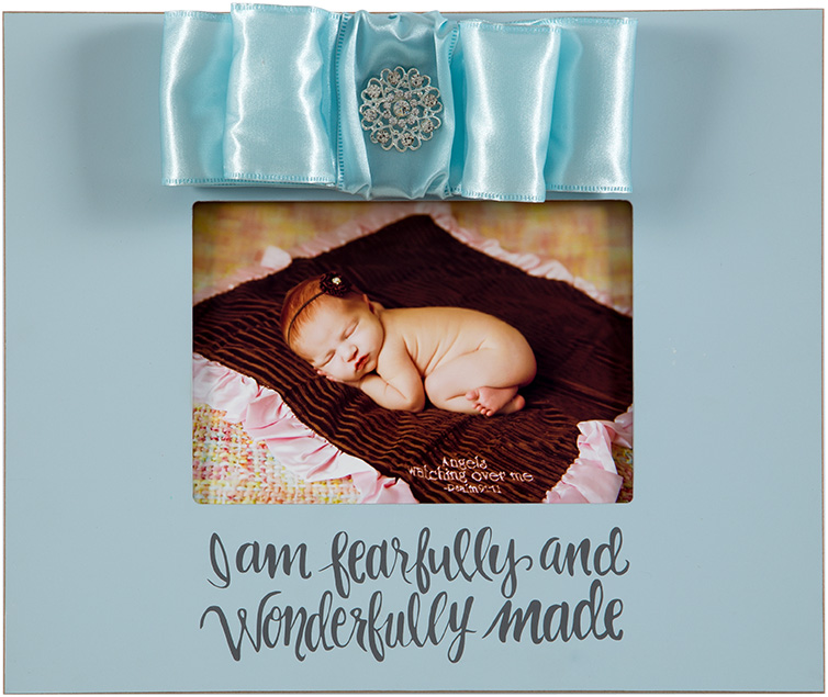 Pink 10x12 Wood Frame - For this child, I have prayed