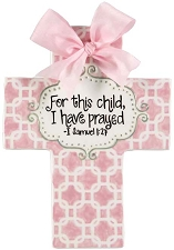 Pink Chains Large Cross - For this child I have prayed