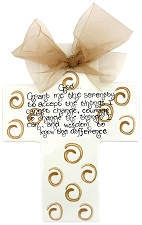 Toffee Swirls Large Cross - Serenity prayer