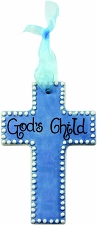Blue/White Cross - God's Child