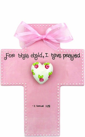 LIMITED STOCK! Pink Large Cross - For this child I have prayed