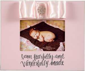 Pink 10x12 Wood Frame - I am fearfully and wonderfully made